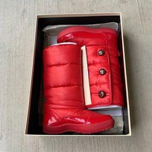 coach polina shiny nylon snow boots